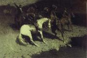 Frederic Remington Fired on oil painting picture wholesale