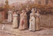 George goodwin kilburne Mirr Pinkerton-s Academy oil painting artist