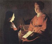Georges de La Tour The Education of the Virgin oil painting picture wholesale