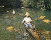 Gustave Caillebotte Racing boat oil painting picture wholesale