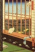 Hiroshige, Ando Cat at Window oil painting artist