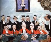 James Ensor The Wise judges oil painting on canvas
