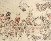 James Ensor Drunken Men Playing Billiards oil painting picture wholesale
