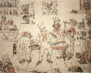 James Ensor Waiters and Cooks Playing Billiards,Emma Lambotte at the Billiard Table oil painting picture wholesale