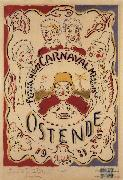 James Ensor Poster for the Carnival at Ostend oil painting picture wholesale