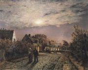 Jean Charles Cazin Sunday Evening in a Miner-s Village oil painting picture wholesale