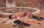 John William Godward Does He Love me oil painting picture wholesale
