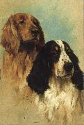 John emms English Springer Spaniels at Rest oil painting artist