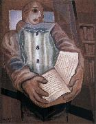 Juan Gris The clown scooped up the book oil painting picture wholesale