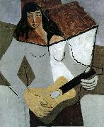 Juan Gris The fem playing guitar oil painting picture wholesale