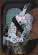 Juan Gris The clown with Guitar oil painting picture wholesale