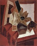 Juan Gris The composition having rose oil painting picture wholesale