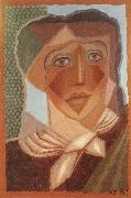 Juan Gris The fem wearing the scarf oil painting picture wholesale