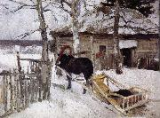 Konstantin Korovin Winter oil painting artist