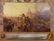 Leutze, Emmanuel Gottlieb Westward the Course of  Empire Take its Way oil painting artist