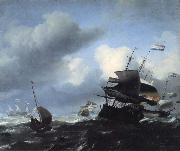Ludolf Backhuysen Seascape with Ships oil painting artist