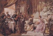 Madeleine Lemaire Tea at the Hotel de Ville oil painting picture wholesale