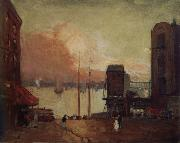 Robert Henri Cumulus Clouds,East River oil painting picture wholesale