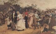 Sir Samuel Fildes The Wedding Procession oil painting picture wholesale