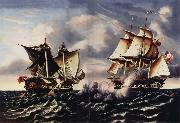 Thomas Chambers Capture of H.B.M.Frigate Macedonian by U.S.Frigate United States oil painting picture wholesale