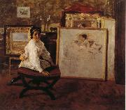 William Merritt Chase Do you speak with me oil painting picture wholesale