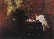 William Merritt Chase Still life and parrot oil painting picture wholesale