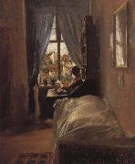Adolph von Menzel The Artist-s Bedroom in the Ritterstrabe oil painting picture wholesale