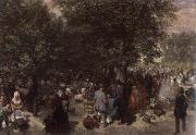 Adolph von Menzel Afternoon in the Tuileries Garden oil painting picture wholesale