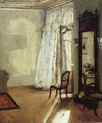 Adolph von Menzel The Balcony Room oil