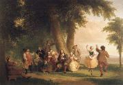 Asher Brown Durand Dance on the Battery in the Presence of Peter Stuyvesant oil painting picture wholesale
