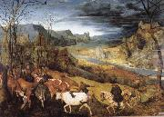 BRUEGEL, Pieter the Elder Return of the Herd oil painting picture wholesale