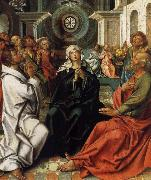 COECKE VAN AELST, Pieter Here descent of the holy spirit oil