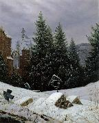 Carl Gustav Carus Cemetery on Mount Oybin oil painting picture wholesale