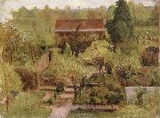 Christian Friedrich Gille Garden oil painting artist