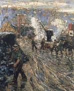 Ernest Lawson Building the New York oil painting artist