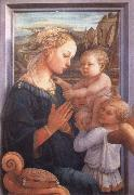 Filippino Lippi Madonna with the Child and Two Angels oil painting picture wholesale