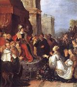 Frans Francken II Solomon and the Queen of Sheba oil painting picture wholesale