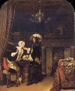 Frans van Mieris The Gentleman in the shop oil painting artist