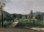 Friedrich August von Kaulabch Garden in Ohlstadt oil painting picture wholesale