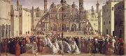 Gentile Bellini St.Mark Preaching in Alexandria oil painting picture wholesale