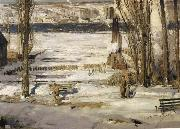 George Wesley Bellows A Morning Snow oil painting on canvas
