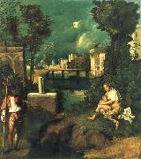 Giorgione The storm oil painting picture wholesale
