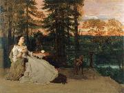 Gustave Courbet Lady on the Terrace oil painting picture wholesale