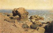 Isaac Levitan Sea bank rummaged oil painting picture wholesale