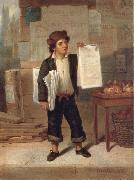 James H. Cafferty Newsboy Selling New-York Sweden oil painting reproduction