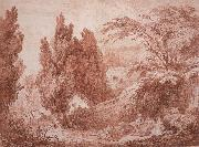 Jean-Honore Fragonard Park Landscape oil painting picture wholesale