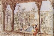 Jean-Paul Laurens Palace of the French Mission in Teheran oil painting artist
