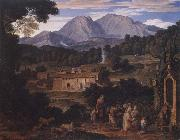 Joseph Anton Koch Monastery of San Francesco di Civitella oil painting picture wholesale