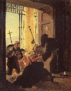 Karl Briullov Pilgrims in the Doorway of a Church oil painting picture wholesale