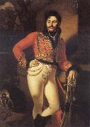 Kiprensky, Orest Portrait of Yevgraf Davydov,Colonel of The Life-Guards oil painting artist